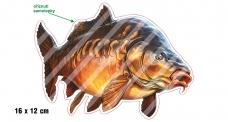 Rybárska samolepka KAPR P