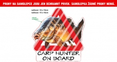 Rybárska samolepka Carp Hunter on Board