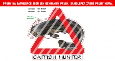 Rybárska samolepka Catfish Hunter