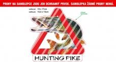 Rybárska samolepka HUNTING PIKE