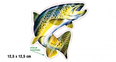 Rybárska samolepka PSTRÚH