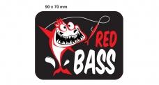 Rybárska samolepka REDBASS BLACK